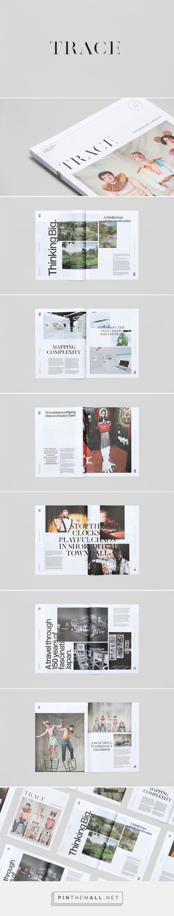 Trace Magazine on Behance - created via https://pinthemall.net
