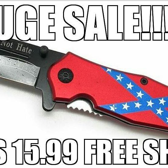 Knives on sale now 15.99!!! 5.99 Confederate Flags for sale at rebelfourlife.com #rebel #confederateflag #diesel #dixie