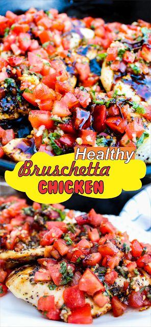 Bruschetta Chicken | Floats CO #chicken #chickenre…