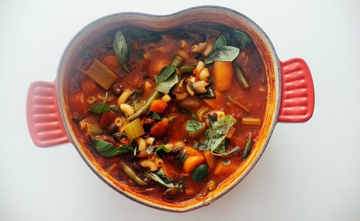 vegansk minestronesuppe oppskrift vegetarbloggen