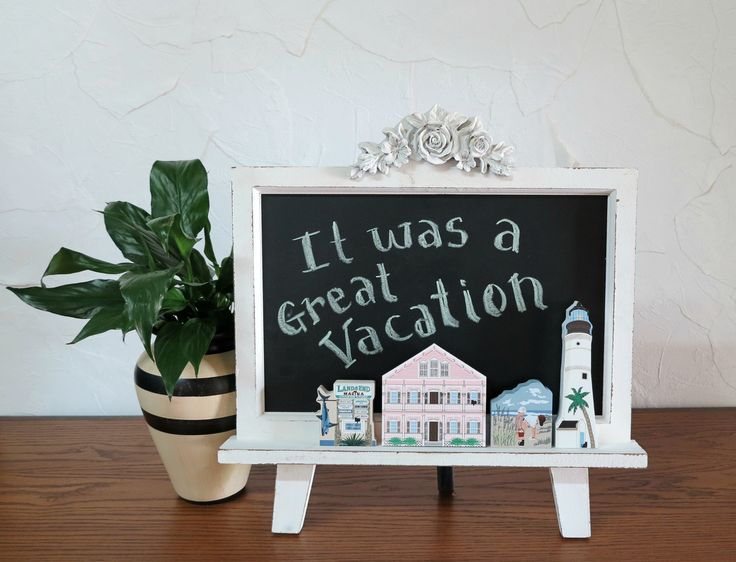 This is how you use the Chalkboard Easel from Kohl's to display your Cat's Meows!