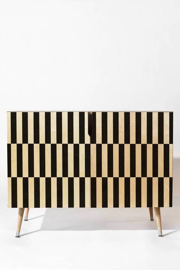 Bianca Green Black And White Order Credenza