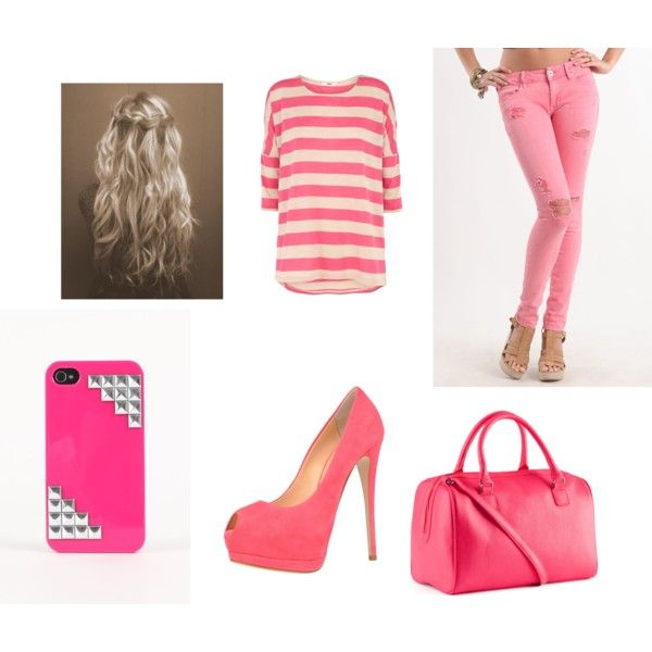 """PINK"" by lea2587 on Polyvore"