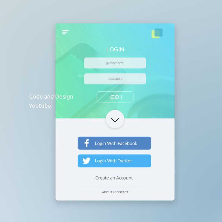 UI Design tutorial in Photoshop : Mobile app login Page Design fro YouTube tutorial Code and Design