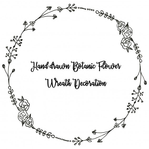 Freepik Graphic Resources For Everyone How To Draw Hands Wreath Drawing Wreath Clip Art