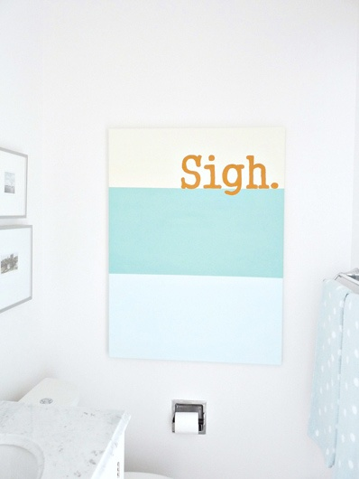 Super simple but very cute!    Fresh-Home_Sigh-Painting_DoneCanvases I, Diy Canvas, Block Canvas
