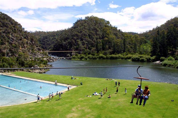 Cataract Gorge, Launceston, Tasmania - right near the centre of town, beautiful spot.