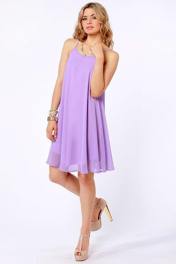 Pretty Lavender Dress - Midi Dress - Tank Dress - $35.00
