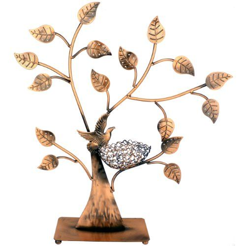 http://103rdavenue.com/jewelry-tree-bird-nest-table-top-decor-48-pair-earrings-holder-bracelets-necklace-organizer-stand-display-tower/ Hanging your earrings, bracelets and necklace on the branches of this antique tree tower for easy access and a beautiful presentation. A sorrow bird guards your precious jewelries in the nest as intently as she'd protect her eggs. The crafted leaves hold up to 48 pairs earrings while the 16 branches organize your...: Earring Holders, Nest Table, Bird Nests, Pair Earrings, Table Top, 48 Pair, Jewelry Tree