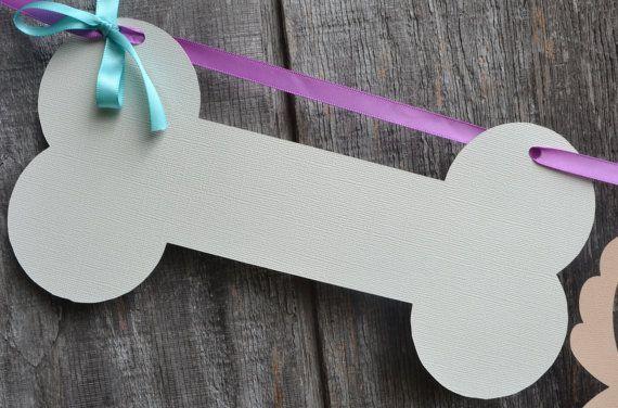 Perro partido Banner Banner fiesta cumpleaños por CraftedOccasions