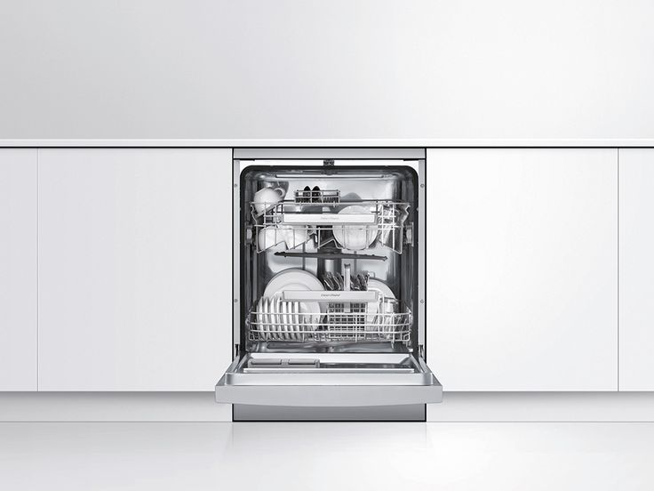 Fisher & Paykel Dishwasher (DW60CHX1).  This stainless steel dishwasher with digital display, 14 place settings and 6 wash programmes.