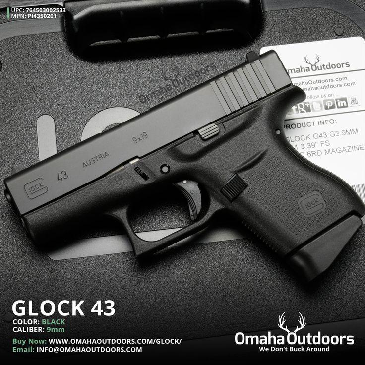 Glock 43 9mm 6 RDS 3.39″ Handgun - Omaha Outdoors