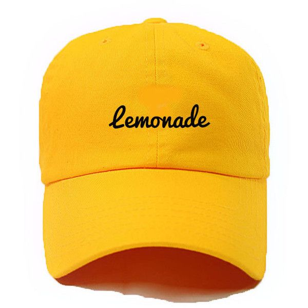 Lemonade,When life hands you Lemons,,Formation Tee, #lemonade ,Queen B, Winners Don't Quit on Themselves,Formation World Tour 2016, Swag featuring polyvore women's fashion accessories hats embroidery hats embroidered hats