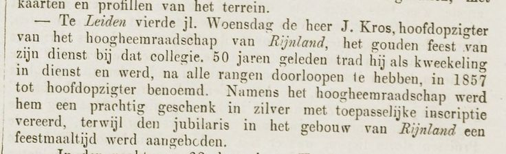 Jan Kros. 50 jarig jubileum