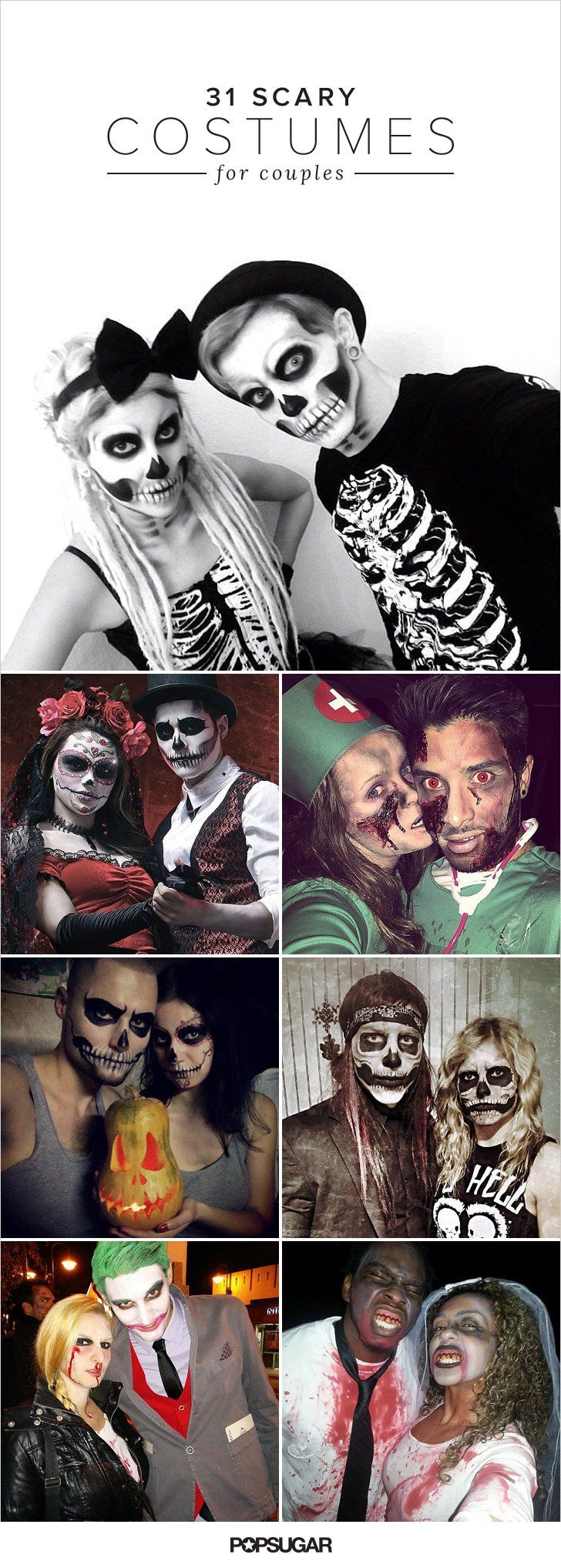 17 best ideas about scary halloween costumes on pinterest - Maquillage halloween couple ...