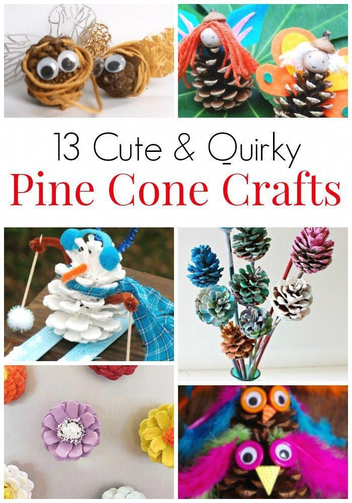 c4f36a9ef7d4 13 Cute   Quirky Crafts with Pine Cones. Crafts with mother nature s gifts