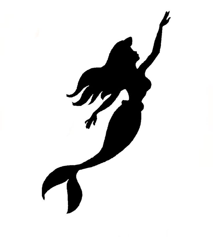 Ariel Little Mermaid Pumpkin Stencil