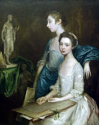 Thomas Gainsborough 1727-1788 pintor retratista siglo XVIII artist's daughters