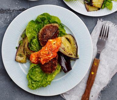 Järpar med citronmarinerad aubergine