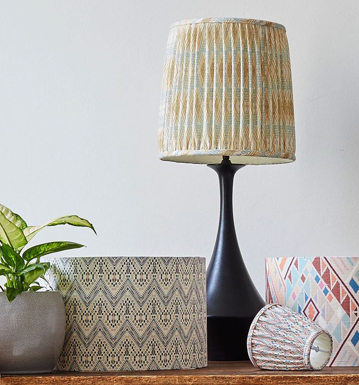 Copper & Silk lampshades, in collaboration with A Rum Fellow
