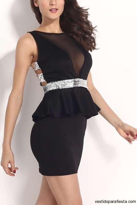 Vestidos péplum negros ajustados de noche 2014 https://vestidoparafiesta.com/vestidos-peplum-negros-ajustados-de-noche-2014/ #vestidos #moda #dress #fashion #style #bodycon #sexy #nighdress #bodycondress #partydress