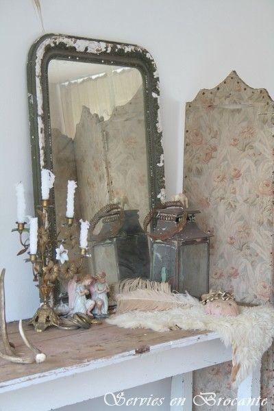 Franse spiegel/ French mirror | Sold | Servies & Brocante