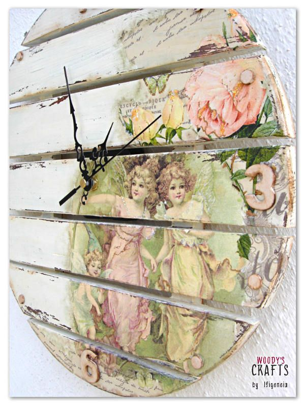 Handmade wooden watch decorated with the art of decoupage   Wooden item made by: @woodysgr