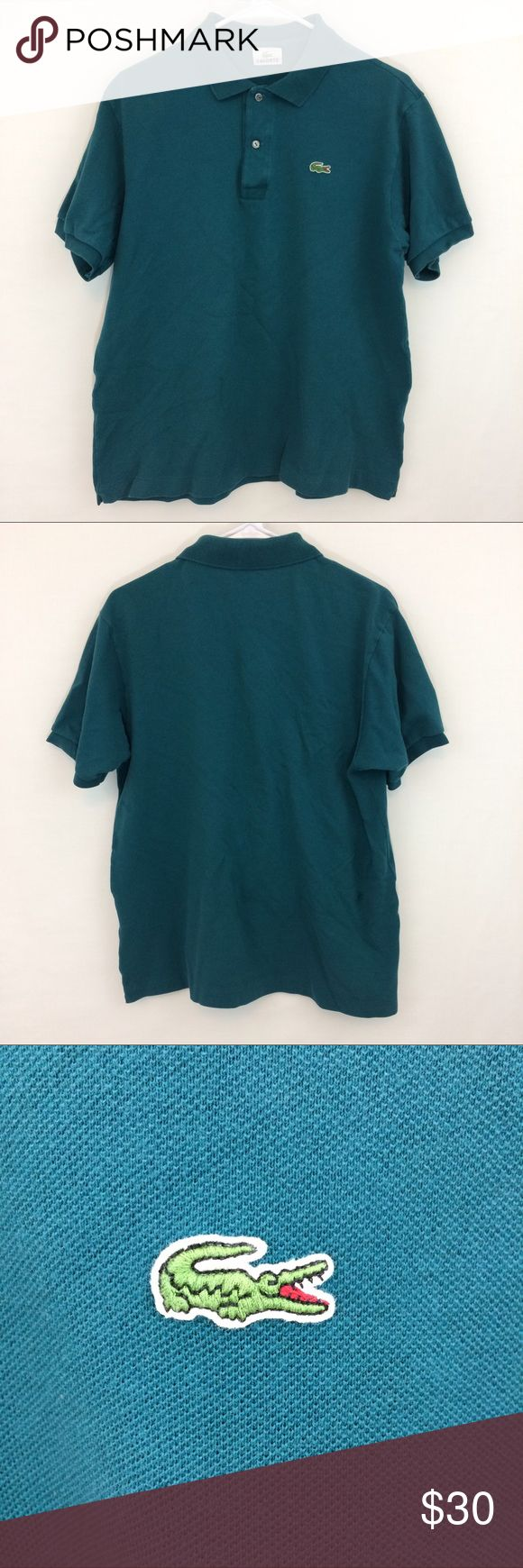 Lacoste Polo Shirt This is a Lacoste dark turquoise polo shirt. It is really nice gently used condition. Lacoste Shirts Polos