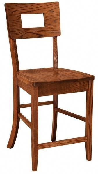 Amish Kirkland Contemporary Bar Stool Solid wood with stand out