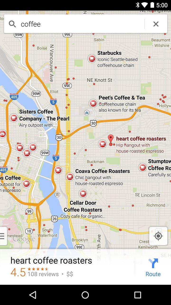 Google Maps #floating