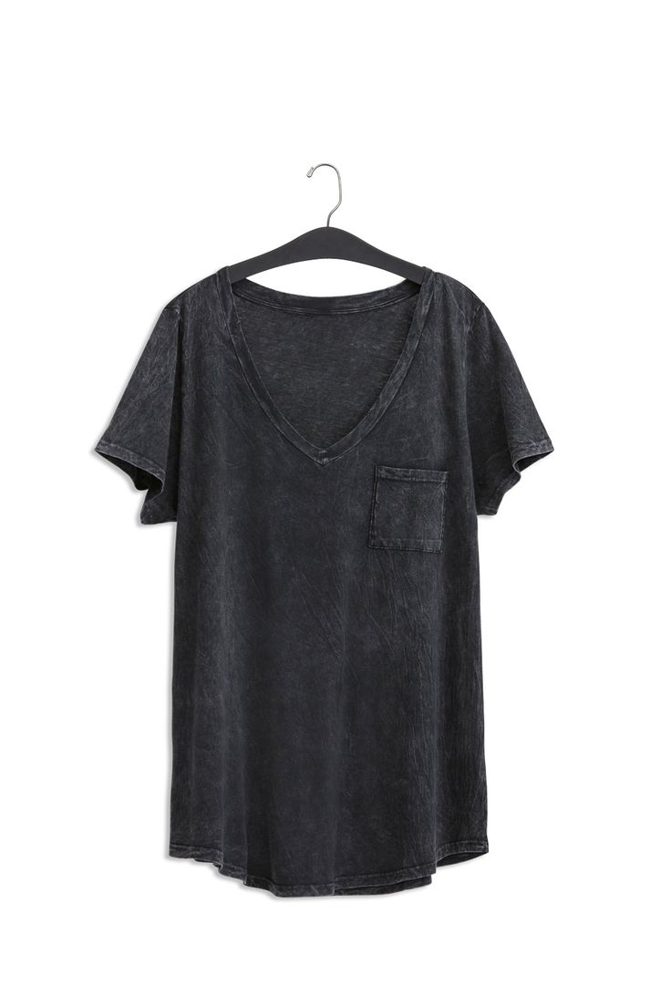 Premium Black Mineral Wash V-Neck Tee/ Plus Size Clothing / TORRID