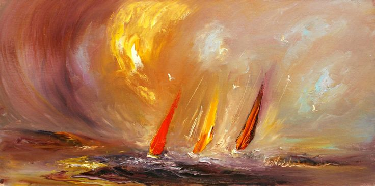 carolannwaldron.com - The Power of Three. €925 Sailing Scene  (http://www.carolannwaldron.com/the-power-of-three/)