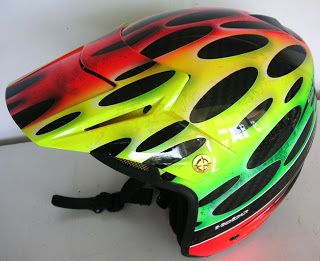 Hebo Open Hand Painted Helmet #148 ~ Hand Painted Helmets - Design your helmet today..!!