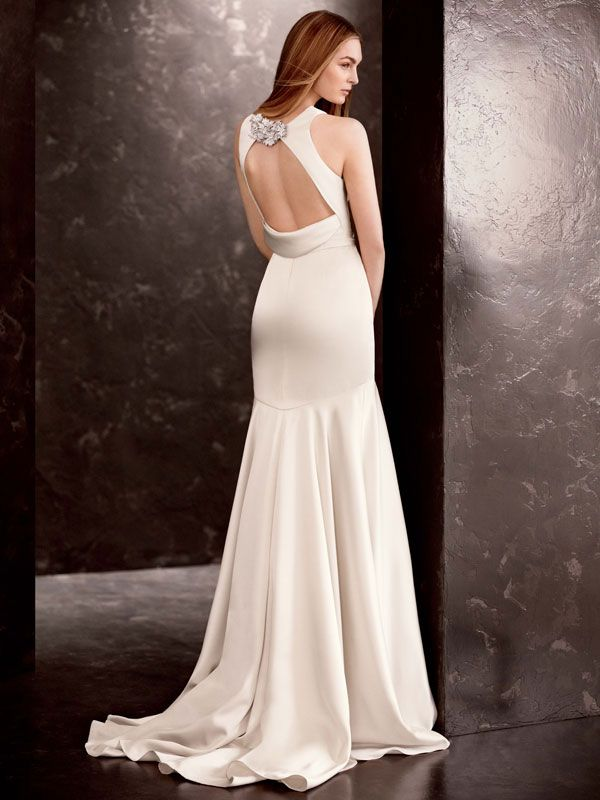 This double-faced satin gown is the epitome of old world elegance and class. White by Vera Wang Style VW351186