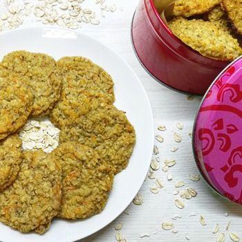 Galletas veganas de avena y manzana