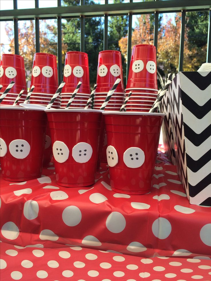 Mickey Mouse Clubhouse | Simple cup idea | First Birthday by @Ismerai Dominguez