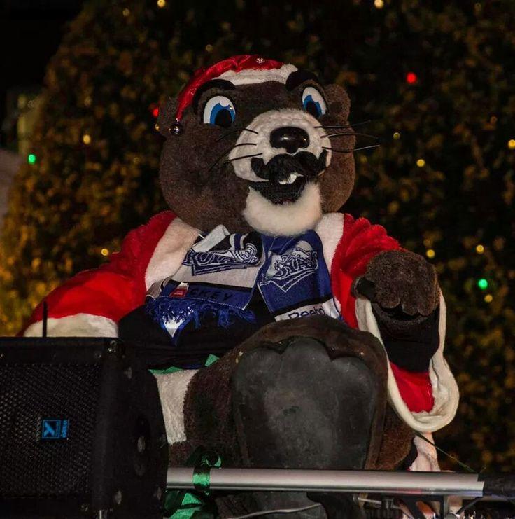 The royals hockey teams mascot Victoria santa parade 2014