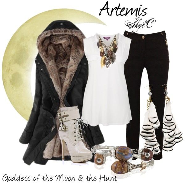 I love the Percy Jackson series, and Artemis is one of my fav goddesses so I would so wear this, minus the heels, which I don't think Artemis would wear, bad for hunting, and I have the archery skills to go with...