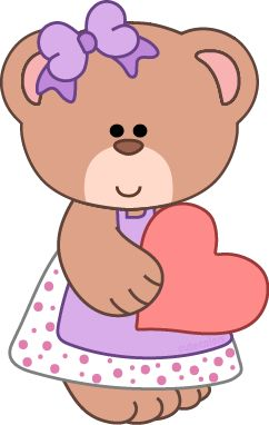 Free bear clipart from www.cutecolors.com
