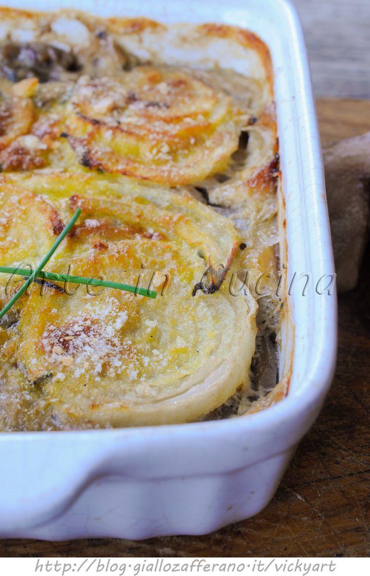 Sformato di champignon e cipolle ricetta facile vickyart arte in cucina