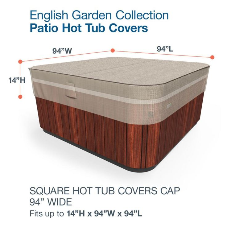 Budge english garden large hot tub covers p9a17pm1 the