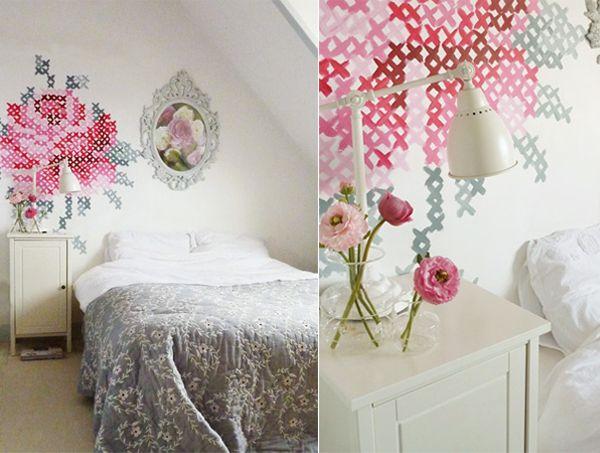: Wall Art, Idea, Crosses Stitches Patterns, Crossstitch, Wall Murals, Wall Paintings, Paintings Wall, Paintings Crosses, Cross Stitches