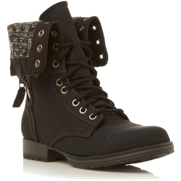 Super cute combat boots! i have these but the flaps at the top are light pink and dark purple! <3 <3