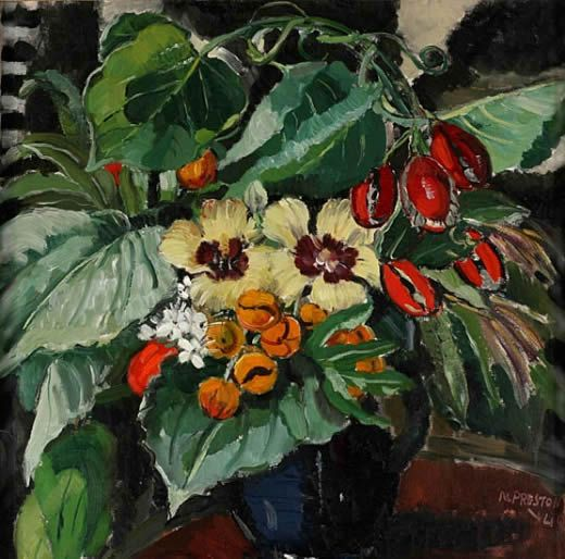 Margaret Preston, A Darwin bunch , 1940, oil on canvas