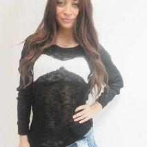 Moutache Sweater ( reverse)   $49 s m l