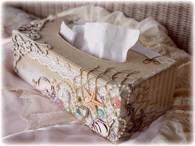 Tissue Box cover, altered project using my by DT member Gabrielle Pollacco using…
