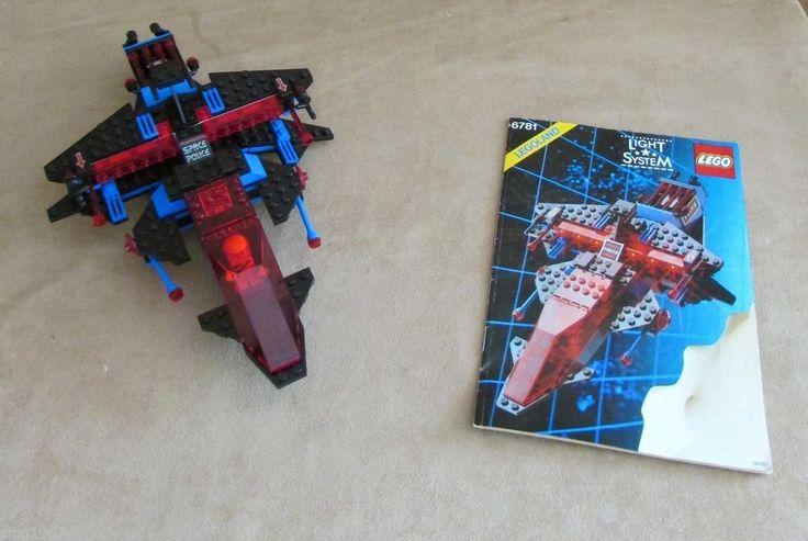 6781 Lego Space Police SP-Striker complete vintage instructions astronaut #LEGO