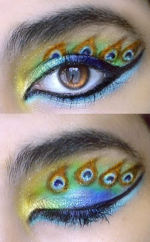 Peacock eyeshadow!