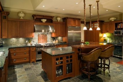 kitchen islands ideas I love the raised counter on the island
