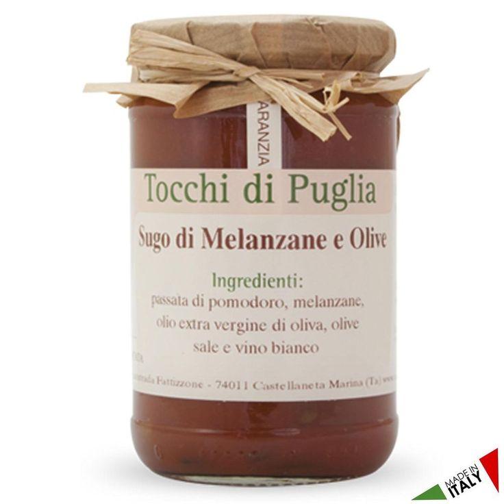 SUGO CON MELANZANE E OLIVE NERE GR 280 TOCCHI DI PUGLIA  (070916)